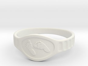Baby Ring in White Natural Versatile Plastic