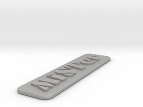 MiSTer Case Logo in Aluminum