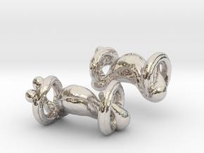 Organic body geometry cufflinks in Platinum