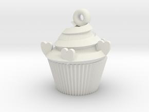 Cacke Pendant in White Premium Versatile Plastic
