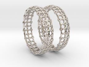 Openwork Hoops - Earrings in Rhodium Plated Brass