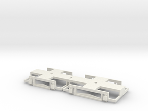 0-87-gcr-petrol-railcar-bogies in White Natural Versatile Plastic