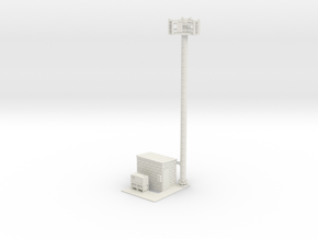 Cell Tower Site 1-50 Scale in White Natural Versatile Plastic