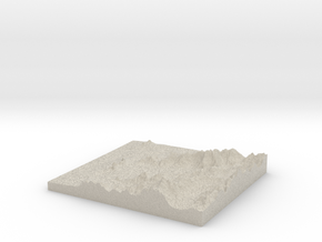 Model of Cabo Balea in Natural Sandstone