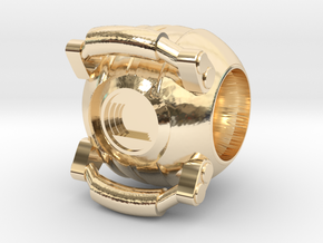 Portal Core Bead (for charm bracelets) in 14k Gold Plated Brass