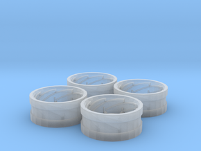 AC Power Adjust Rims Set of 4 in Smooth Fine Detail Plastic