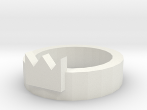 Three kings ring in White Natural Versatile Plastic