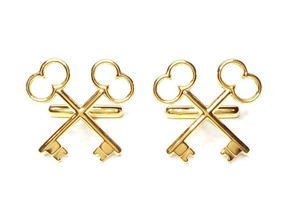 The Society of the Crossed Keys Cufflinks in 18K Gold Plated