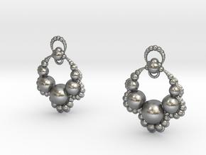 Jk OS Earrings in Natural Silver