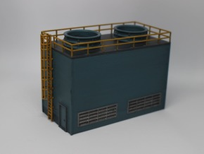 N Scale Large Chiller Part 2 (Roof) in Smooth Fine Detail Plastic