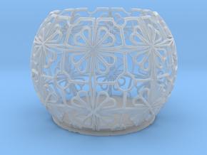 Tealight Holder Tiled Orb Indigo in Smooth Fine Detail Plastic