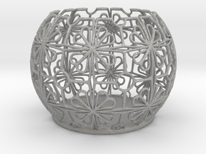 Tealight Holder Tiled Orb Indigo in Aluminum
