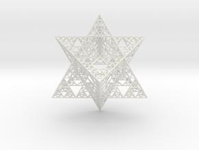 Sierpinski Merkaba III, Hollow (downloadable) in White Natural Versatile Plastic