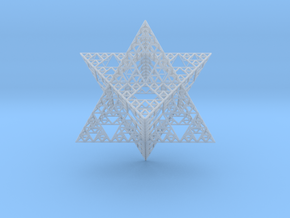 Sierpinski Merkaba III, Hollow (downloadable) in Smooth Fine Detail Plastic