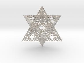 Sierpinski Merkaba III, Hollow (downloadable) in Platinum
