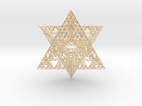 Sierpinski Merkaba III, Hollow (downloadable) in 14k Gold Plated Brass