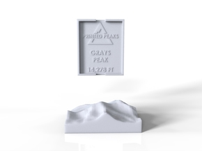 Grays Peak in White Natural Versatile Plastic