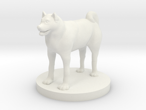 Shiba in White Natural Versatile Plastic