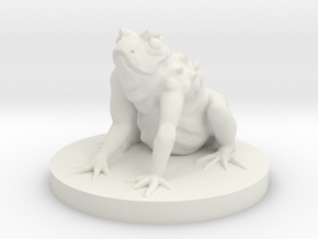 Giant Frog Monster in White Natural Versatile Plastic
