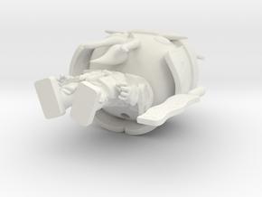 Hamurai_hollow in White Natural Versatile Plastic