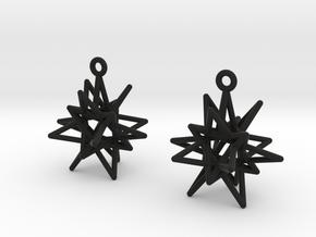 Starry Knight Earrings in Black Natural Versatile Plastic
