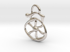 Electric wind  in Rhodium Plated Brass