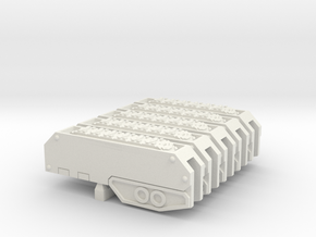 Armoured Sub-terrainian Breaching Vehicle Track in White Natural Versatile Plastic: Large