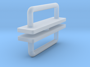 1:12 Handle (door) in Smooth Fine Detail Plastic