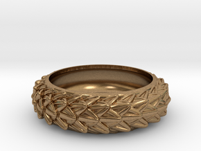 Dragon Scales Band, size 10 (19.76 mm) in Natural Brass