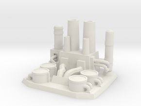 The gas refinery plant in White Natural Versatile Plastic