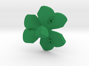 Shamrock d6 in Green Processed Versatile Plastic