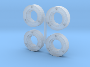MF inner wheel weights v2.0 (4 pack) in Smooth Fine Detail Plastic