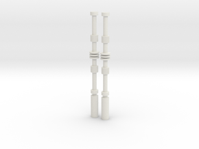 Darth Vader ESB Rods in White Natural Versatile Plastic