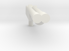 a *Even number* barreled shotgun in White Natural Versatile Plastic: Extra Small