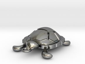 turtle in Fine Detail Polished Silver