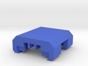 3 Slots Modular Picatinny Wire Clip Rail Cover in Blue Processed Versatile Plastic