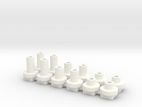 topes de H4x 2, 4 y 6mm in White Processed Versatile Plastic