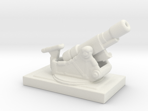 SKODA 305mm  M1916 172 ww1 artillery 1/285  in White Natural Versatile Plastic