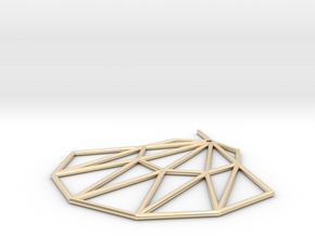 Low poly Doyenne Earring in 14K Yellow Gold