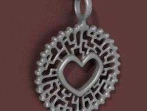 Heart Pendant in White Strong & Flexible