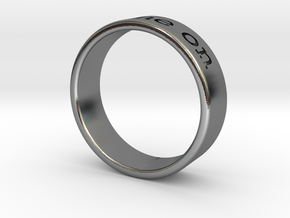 """""""Shine On"""" engraved ring in Polished Silver"""