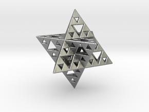 Sierpinski Merkaba IV level 3 1.5 cm (downloadable in Natural Silver