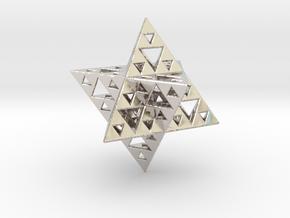 Sierpinski Merkaba IV level 3 1.5 cm (downloadable in Platinum