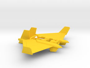 Dirge wings for CW Skydive in Yellow Processed Versatile Plastic