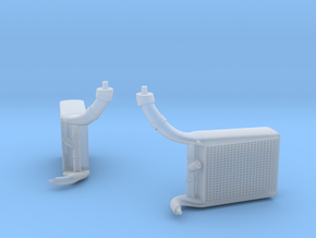 late version intercoolers for the 1/20th McLaren M in Smoothest Fine Detail Plastic