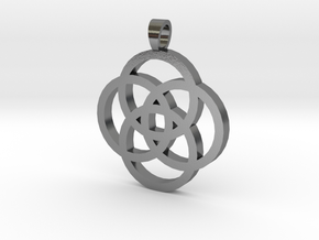 Rosette [pendant] in Polished Silver