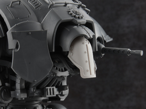 Robot Knight - Face Plate in Smooth Fine Detail Plastic