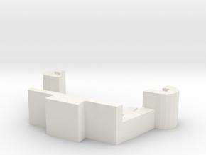 Estes Proto-X Battery Clip in White Natural Versatile Plastic