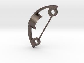 5.1 charge port holder frame in Polished Bronzed Silver Steel