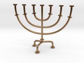 Menorah chandelier 1:12 scale model V2 in Natural Brass